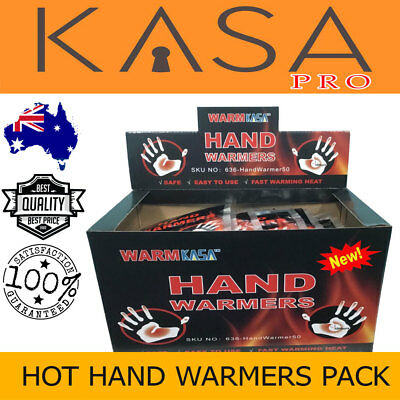 Hot Hand Warmers Pack 10 Hrs Natural 50 KASA 25 Pairs Safe and Fast Heating