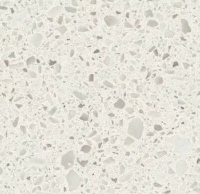 "Quartz Countertop Engineered Prefab 108""X26""X3/4"" White Pearl"