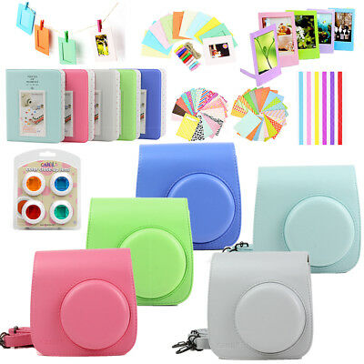 Fujifilm Fuji Instax Mini 9 Film Camera Case Cover Bag + Album + Filters + Frame