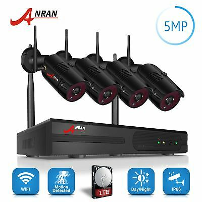 ANRAN 5MP 1920P Full HD Home Wireless Security Camera System Outdoor 4CH NVR 1TB