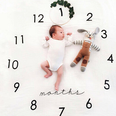 1*Newborn Baby Photography Props Backdrop Braided Knitted Blanket Rug Photoshoot