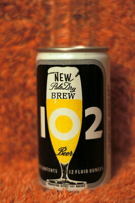 Vintage Aluminum Beer Can 102 Pale Dry Brew, General Brewing Co. San Francisco