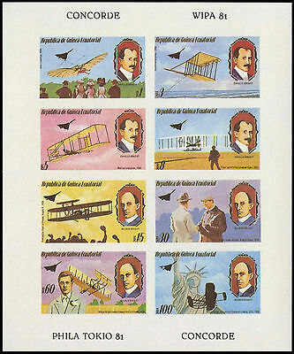 Equatorial Guinea 1970's Concorde, Aviation MNH Imperf Sheet #C29007