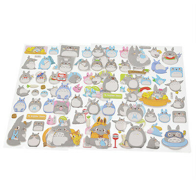 1 Sheet Kawaii Totoro Stickers Japanese Anime Decal DIY Scrapbook Decor Random