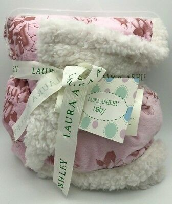 Brand New Laura Ashley Baby Blanket Pink FREE SHIPPING