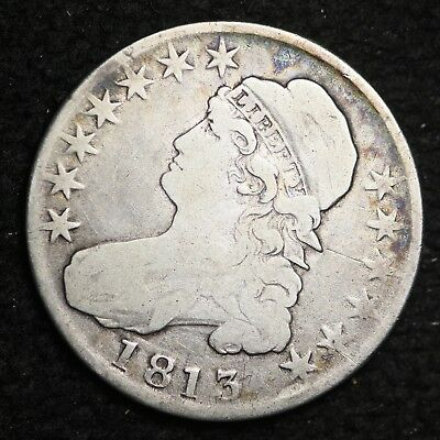 1813 Capped Bust Half Dollar CHOICE FINE FREE SHIPPING E357 WFM