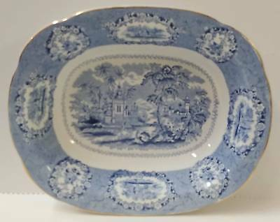 Ridgway ORIENTAL Oval Vegetable BLUE TRANSFERWARE GOLD TRIM More Items Available