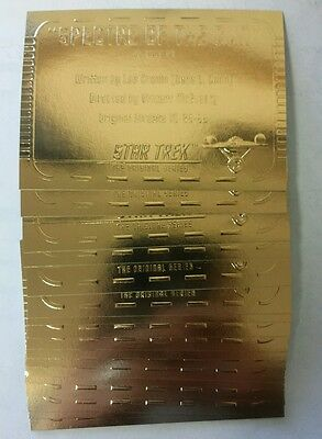 1999 Skybox Star Trek TOS Gold Plaque Compete Card Set G56 - G79 Season 3