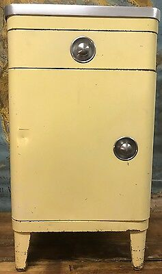 Vtg 30s 40s Simmons American Dental Medical Metal Industrial Cabinet w/ Drawer