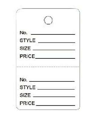 1000 Small Perforated Merchandise Coupon Price Tags White