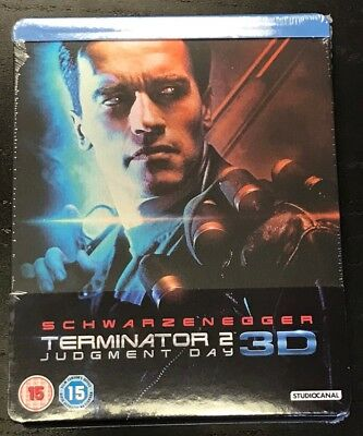 Terminator 2 3D/2D 2-Disc Special Blu-Ray Steelbook [UK] Region B New Sealed