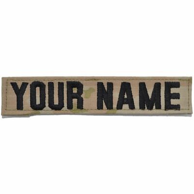 Single Custom Army Name Tape w/ Hook Fastener Backing - Multicam