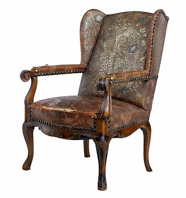 Late 19Th Century French Art Nouveau Walnut Armchair