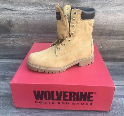 b8fa721672b WOLVERINE WATERPROOF WORK Boots Men's 8M Insulated Pigskin Leather Saddle  Tan