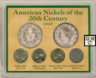 American Nickels of the 20th Century Four Coin Set (OOAK)