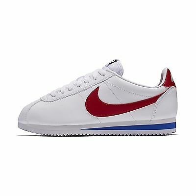 NIKE CLASSIC CORTEZ Leather OG Family Size White Red Blue Lifestyle ... 3e547eccc765