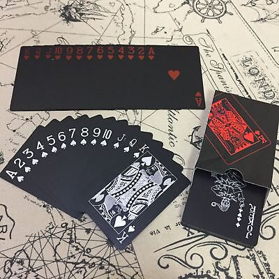 Black Waterproof Poker Card Playing Cards Funny Game Toy Collectibles Set 2018
