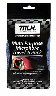 MLH Car Multi-Purpose Microfibre Towels 6 Pack 64MLH800 Free Shipping!