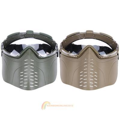 Tactical Military Breathable Cosplay Face Mask Protector for CS Paintball Game