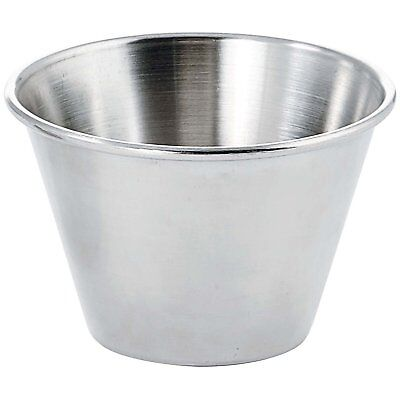 4Oz Stainless Steel Round Ramekin Condiment Sauce Cups Pack Silver Box Types NEW