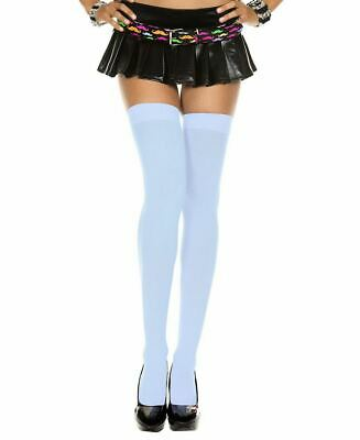 New Music Legs 4742Q Plus Size Opaque Thigh High Stockings