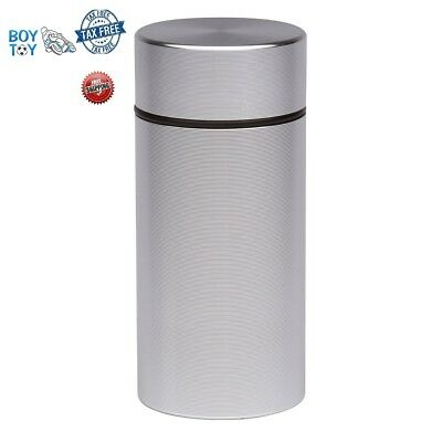 Herb Container Airtight Smell Proof Aluminum Stash Jar Weed Bud Storage Silver