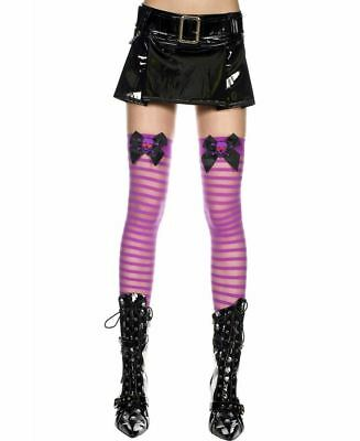 New Music Legs 4125 Sheer Thigh High Stockings With Bow