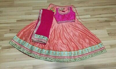 Peach and Hot Pink choli
