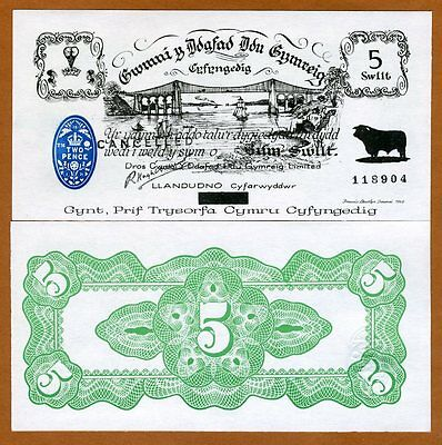 Wales, Black Sheep Bank, 5 shillings, 1971, P-NL, UNC