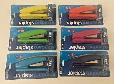 BAZIC Standard (26/6) Stapler-500 Staples Included-6 Bright Colors