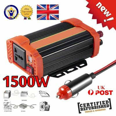 2000W MAX 1500W Modified Power Inverter 12V 230V Camping Household w/ LCD cable