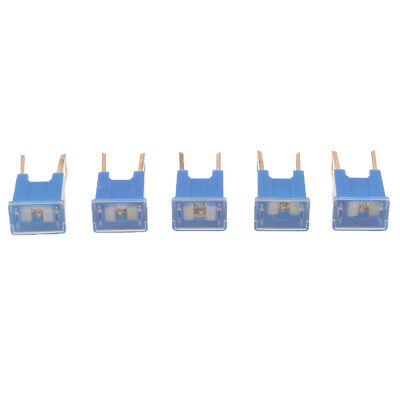 5 Pieces Blue 32V 100A Amp FLK-M Push-in Type Male PAL Blades Fuse for Car