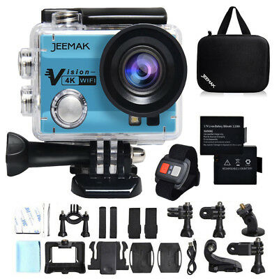 "JEEMAK ACT74R Sports Kamera Action Cam 2"" 4K WiFi FHD Wasserdichte Fernbedienung"