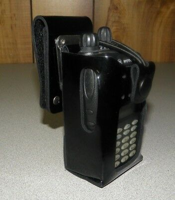 CaseGuys Patent Leather Carrying Case Holster for Motorola EX600 EX560 EX500