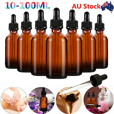 10ML/30ML/100ML Amber Glass Bottles for Essential Oils with Glass Eye Dropper