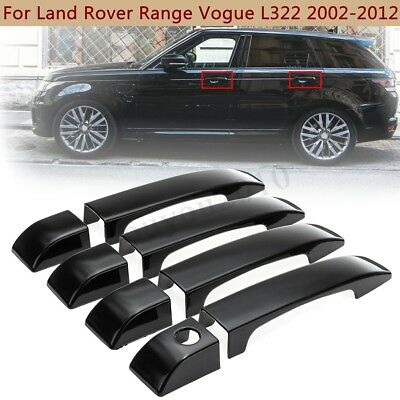 8Pcs Gloss Black Door Handle Covers Trim For Land Rover Range Rover L322 02-12