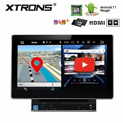 "Double 2 Din HDMI Out 10.1"" HD Android 7.1 Car DVD GPS Stereo Radio Player 4core"