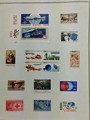 USA Mint MH Album Page Of Stamps #V5904