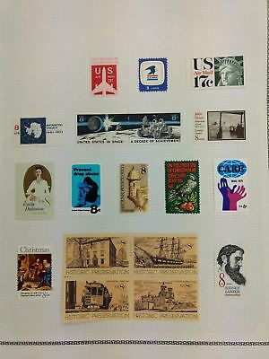 USA Mint MH Album Page Of Stamps #V5915