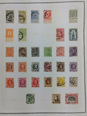 Belgium Album Page Of Stamps #V5788