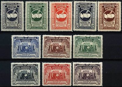 Ecuador 1946 SG#783-793 Adult Instruction MH Set #D62890