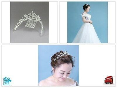Women Bridal Princess Tiara Crown with Comb for Weddings Parties Special Occasio