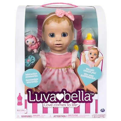 Brand new Interactive Luvabella Blonde Baby Girl Doll Ready to Ship!