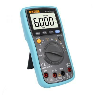 Handheld Digital LCD Multimeter Voltage Current Amp Temp Meter Tester