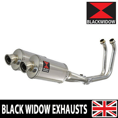 TDM 900 02-09 2-2 Full Exhaust System 230mm Oval Stainless Silencers 230SS