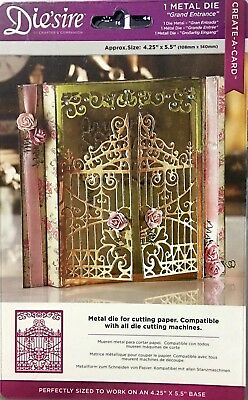 Crafters Companion Die'Sire Metal Dies ~ Create-A-Card Grand Entrance