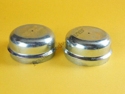 FREE UK POST 2 x 64mm Indespension Trailer Wheel Hub Grease Metal Dust Cap