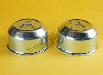 FREE UK POST 2 x 60mm Avonride Metal Grease Wheel Hub Dust Cap to fit Type R Hub