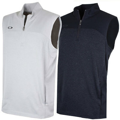 Oakley Golf Mens 2017 Gridlock Moistire-Wicking 1/4 Zip Golf Vest 45% OFF RRP