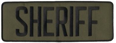 SHERIFF patches with Velcro® attachment  in Green with Black lettering